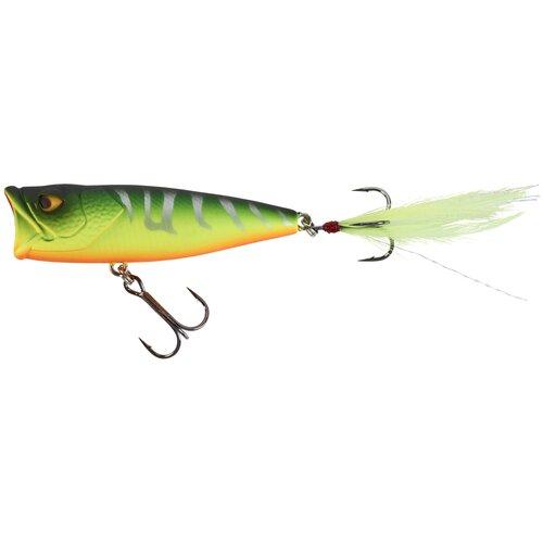 Воблер для ловли хищной рыбы POPPER PPR 65 F, размер: NO SIZE, цвет: Неоновый Зеленый/Неоновый Желтый/Неоновый Морковный CAPERLAN Х Декатлон