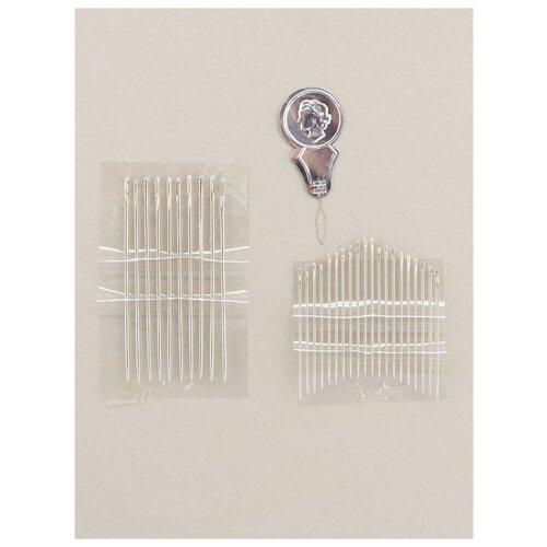 Иглы для шитья для рукоделия 30 шт., N-205, Гамма, серый
