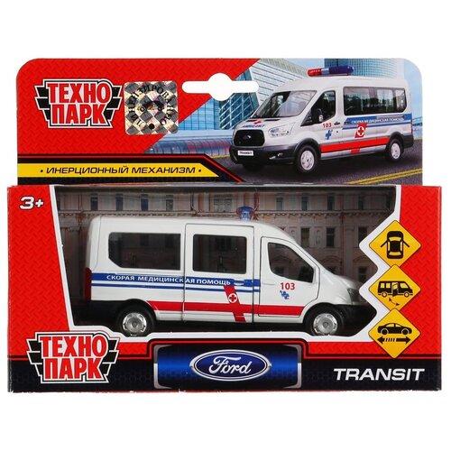 Купить Микроавтобус ТЕХНОПАРК Ford Transit Скорая, 12 см, белый, Машинки и техника