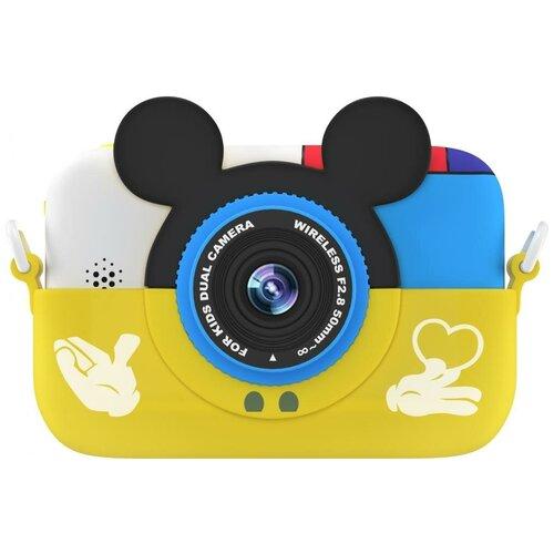 Фотоаппарат GSMIN Fun Camera Memory с играми желтый
