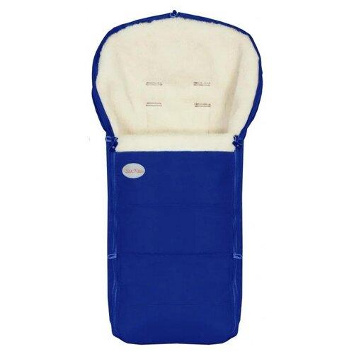 Купить Конверт-мешок Чудо-Чадо меховой Frost 92 см синий, Конверты и спальные мешки