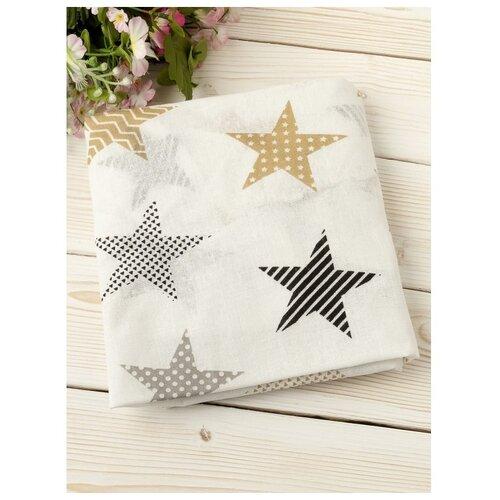 Купить Amarobaby Простыня на резинке Звезды пэчворк 125 х 75 см белый, Постельное белье и комплекты
