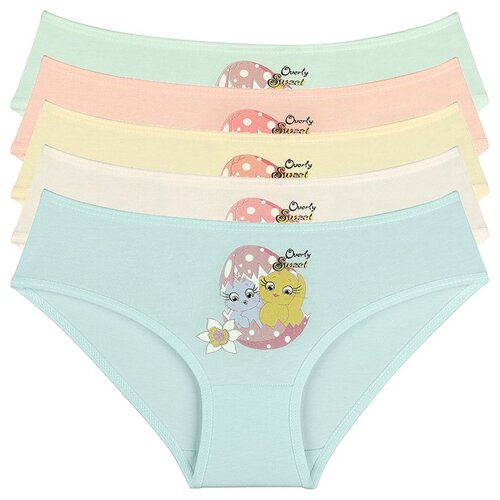 Купить Трусы для девочек 4171YV, Цвет: Микс, Размер: 10/11, 5шт. в упаковке, Donella, Белье и купальники