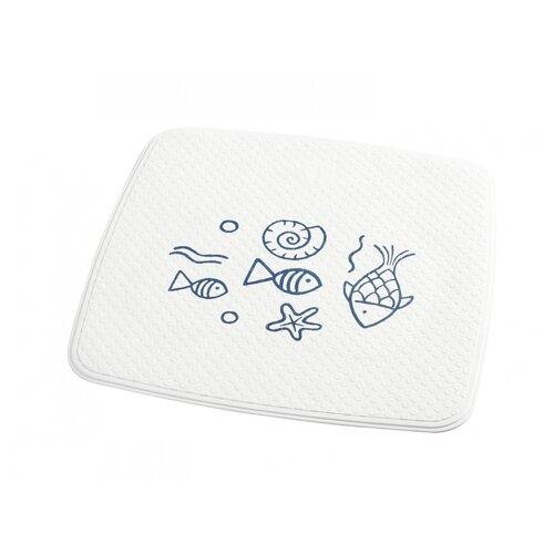 коврик для ванной ridder playa противоскользящий на присосках цвет желтый 54 х 54 см Коврик противоскользящий RIDDER Neptun голубой 54*54