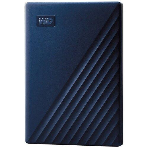 Внешний HDD Western Digital My Passport for Mac 5 TB, синий внешний hdd western digital my passport ultra wdbc3 wdbft 1 tb серебристый