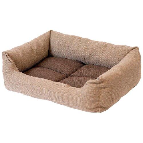 Лежак для собак и кошек Дарэлл Манеж-рогожка № 2 прямоугольный пухлый бежевый 53 х 39 х 14 см (1 шт) недорого