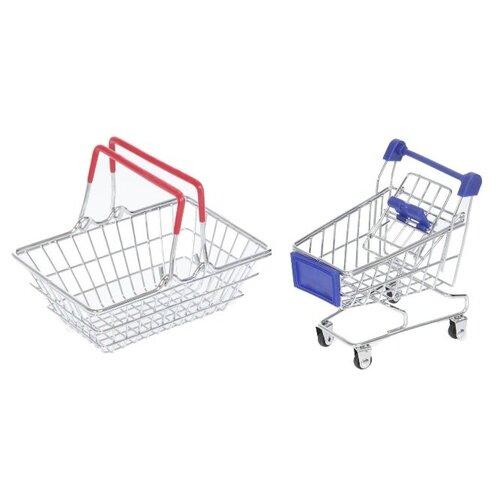 Купить Детский набор для покупок Мини-магазин с корзинкой и тележкой, TONG DE, Играем в магазин