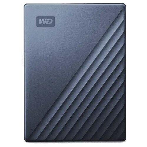 Внешний HDD Western Digital My Passport Ultra (WDBC3/WDBFT) 5 TB, синий внешний hdd western digital my passport ultra wdbc3 wdbft 1 tb серебристый
