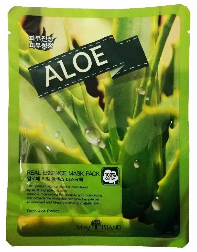 MAY ISLAND тканевая маска Real Essence Aloe с экстрактом алоэ — купить по выгодной цене на Яндекс.Маркете