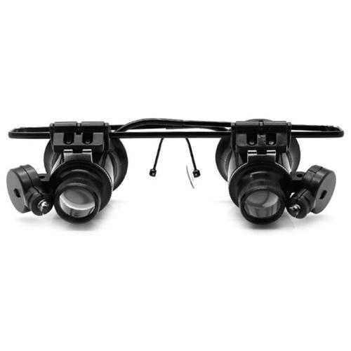 Фото - Лупа-очки Kromatech налобная бинокулярная 20x, с подсветкой (2 LED) MG9892A-II лупа kromatech налобная 1 2 1 8 2 5 3 5x с подсветкой 1 led mg81001 f