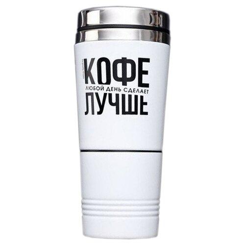 Термокружка Komandor Кофе, 0.3 л белый/серебристый/черный по цене 696