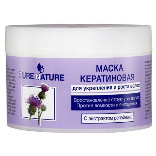 Фото - Маска для укрепления и роста волос Floresan Pure Nature Кератиновя 450 мл хаир витал крем маска для укрепления и роста волос 150 мл