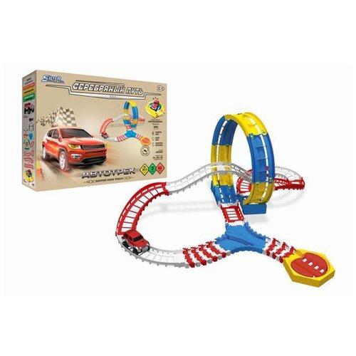 Игровой набор Автотрек, в комплекте: деталей 41шт., Машина электрифицированная, свет, эл.пит.АА*1шт.не вх.в комплект Shantoy Gepay SW7810