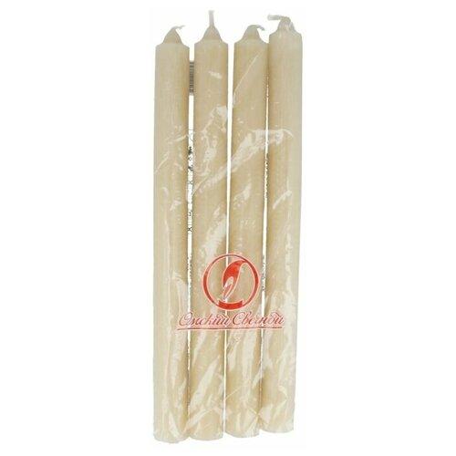 Набор свечей Омский Свечной Хозяйственная 2 х 25 см (2001) белый 4 шт.