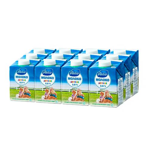 Молоко Valio Детское 2.5%, 12 шт. по 0.5 л