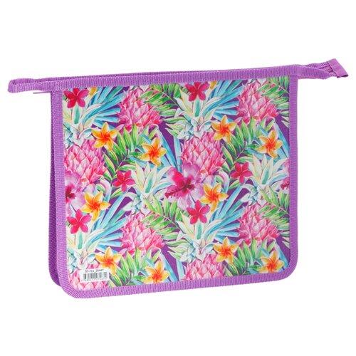 Купить ArtSpace Папка для тетрадей Flowers А5, на молнии, пластик разноцветный, Файлы и папки