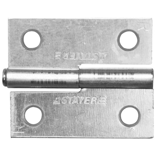 Врезная петля STAYER MASTER 37613-50 R 50x43x1.8 мм белый цинк 1 шт.