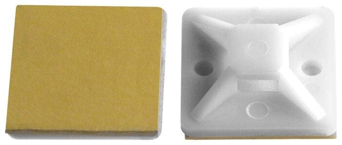 Монтажная площадка ЗУБР 30915-20, крепление: приклеивание/самоклеющаяся и винт, 20 x 20 мм