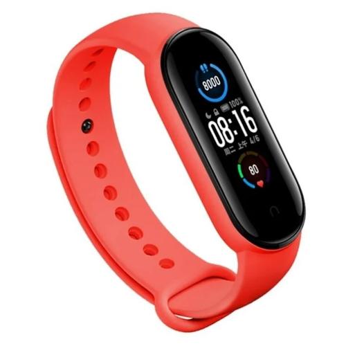Gurdini Ремешок силиконовый для Xiaomi Mi Band 5 красный