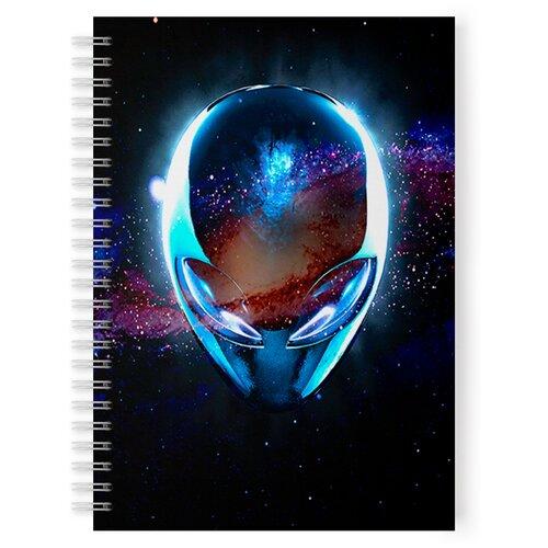 Купить Тетрадь 48 листов в клетку с рисунком Инопланетянин, Drabs, Тетради