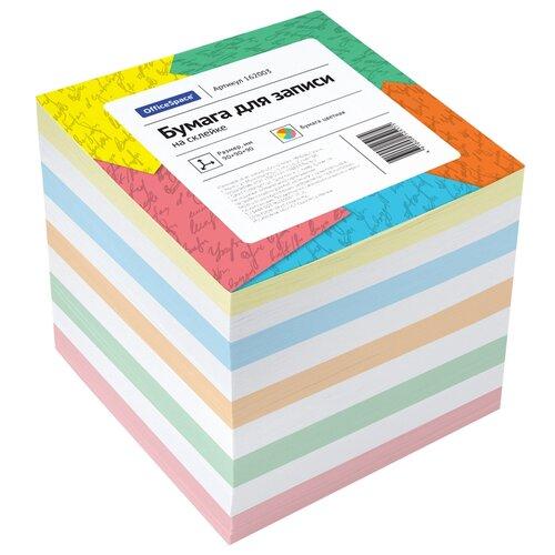 Купить OfficeSpace Блок для записи на склейке 9х9х9 см (162003) разноцветный, Бумага для заметок