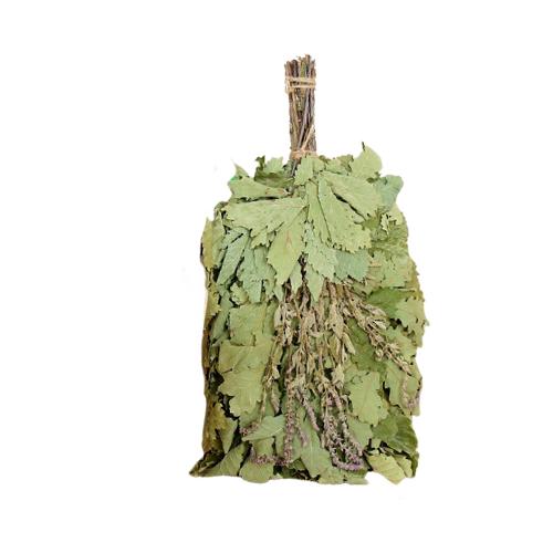 Добропаровъ Веник для бани Экстра из кавказского дуба с шалфеем зелeный