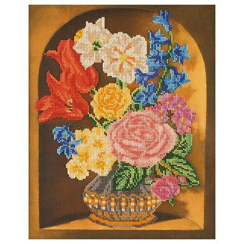 Купить Набор для вышивания «Радуга бисера» В-201 Букет в вазе, Наборы для вышивания