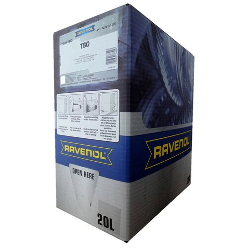Масло трансмиссионное Ravenol TSG SAE 75W-90 ecobox, 75W-90, 20 л масло трансмиссионное motul motylgear 75w 90 75w 90 20 л