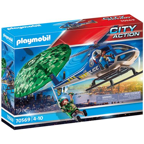 Купить Конструктор Playmobil City Action 70569 Полицейский вертолет Погоня с парашютом, Конструкторы