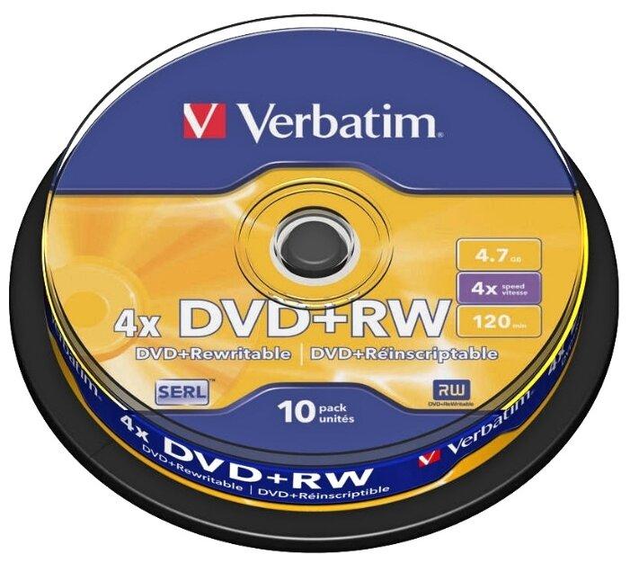 Диск DVD+RW Verbatim 4.7Gb 4x
