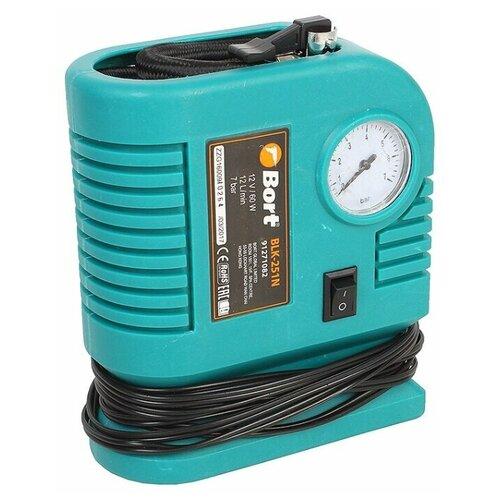 Автомобильный компрессор Bort BLK-251N синий
