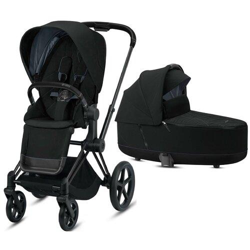 Купить Универсальная коляска Cybex Priam III (2 в 1) deep black/matt black, цвет шасси: черный, Коляски