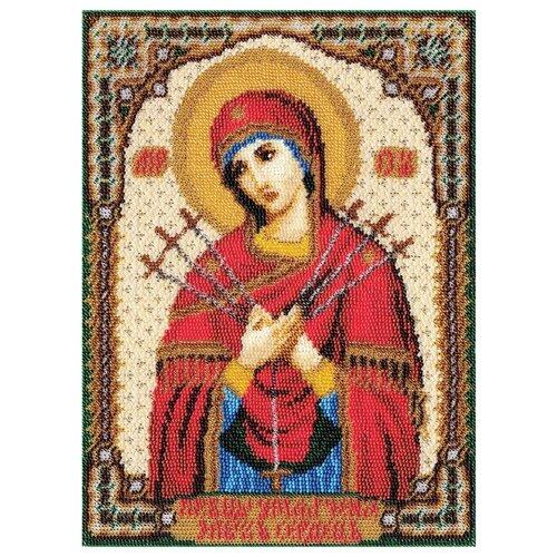 Купить PANNA Набор для вышивания бисером Икона Божией Матери Умягчение злых сердец 20.5 x 28 см (CM-1262), Наборы для вышивания