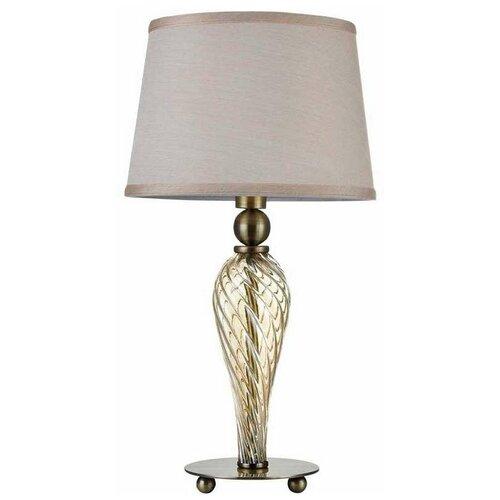 Лампа декоративная MAYTONI Murano ARM855-TL-01-R, E14, 40 Вт, цвет арматуры: бронзовый, цвет плафона/абажура: бежевый
