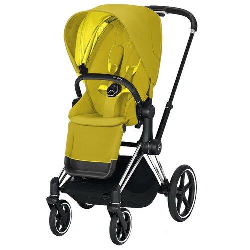Купить Прогулочная коляска Cybex Priam III, mustard yellow/chrome/black, цвет шасси: серебристый, Коляски