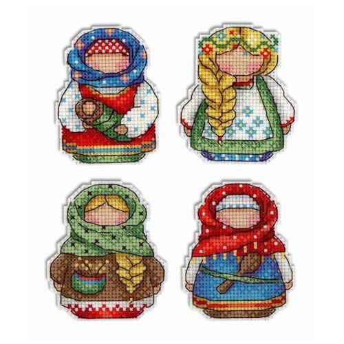 Жар-птица Набор для вышивания Русские обереги. Магниты 7 х 6 см (Р-338)