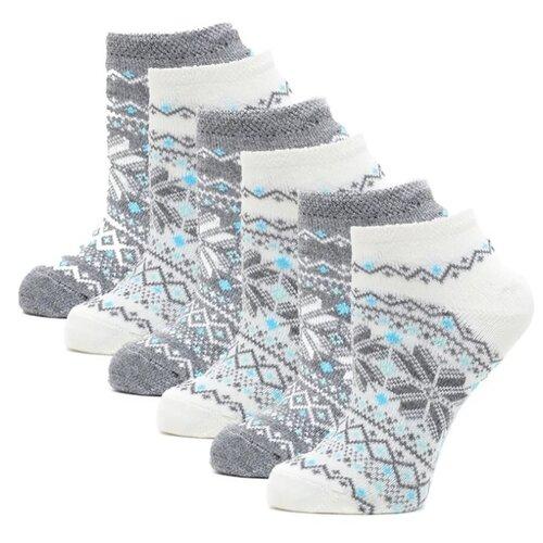Носки HOSIERY 71716, 6 пар, размер 23-25, серый/белый