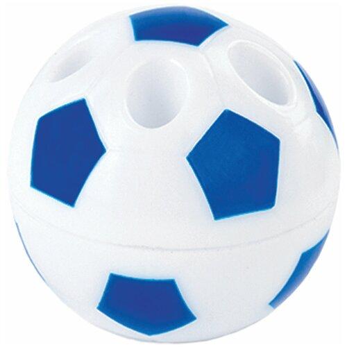 Фото - Точилка ПИФАГОР Мяч, с контейнером, подставка для 4-х карандашей, пластиковая, ассорти, 228443 точилка brauberg diamond dual с контейнером пластиковая овальная 2 отверстия цвет ассорти 226941