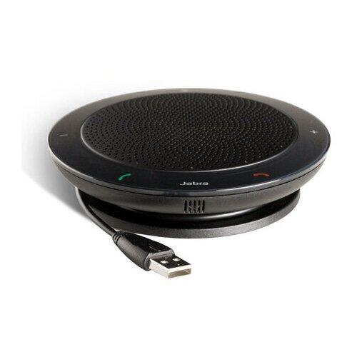 Спикерфон Jabra Speak 410 MS 2 в 1 - портативная музыкальная колонка и устройство громкой/конференц связи возможность подключения к Microsoft Lync/Teams USB-кабель (USB-А) цвет черный