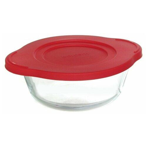 Кастрюля с пластиковой крышкой 2,1 литра Borcam 59001 форма для запекания круглая с крышкой 25x22x8см