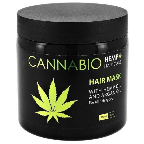 Купить Маска для волос `SEA OF SPA` CANNABIO с конопляным и аргановым маслом (для всех типов волос) 500 мл