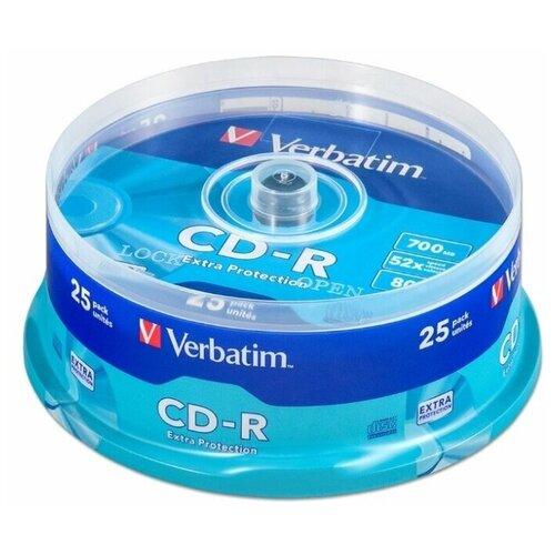 Фото - Диск CD-R Verbatim 700Mb 52x Extra Protection 25 шт. cake box диск cd r verbatim 700 mb 52x cake box 50 dl full ink printable 50 200 43438