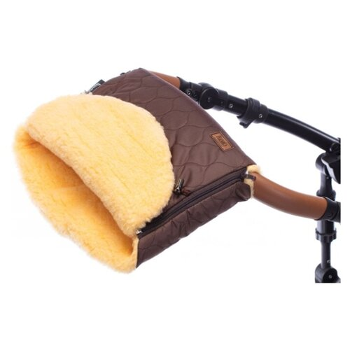Купить Муфта меховая для коляски Nuovita Polare Pesco (Cioccolata/Шоколад), Аксессуары для колясок и автокресел