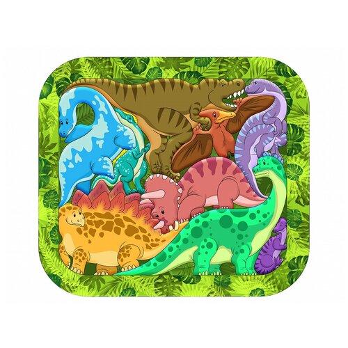 Рамка-вкладыш Нескучные игры Динозавры (8076), 9 дет.