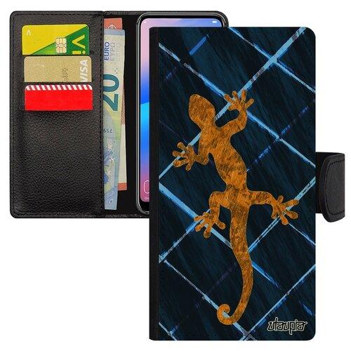 Чехол-книжка на мобильный Самсунг Галакси S7 Эйдж уникальный дизайн Саламандра Символ Тритон