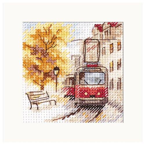 Купить 0-217 Набор для вышивания АЛИСА 'Осень в городе. Трамвай' 7*7см, Алиса, Наборы для вышивания