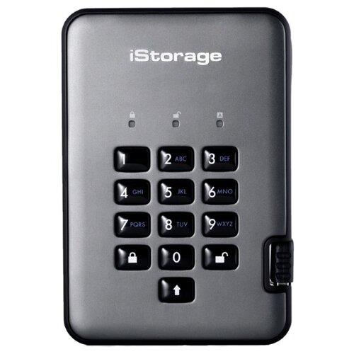 Фото - Внешний SSD iStorage diskAshur Pro2-SSD 512 ГБ, graphite внешний ssd hp p700 512gb 5ms29aa 512 гб черный