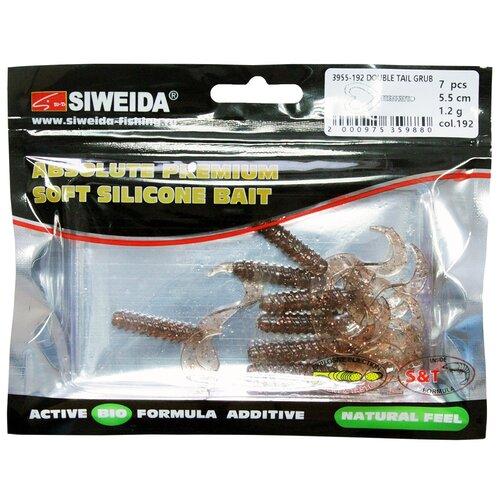 Набор приманок резина SIWEIDA Double Tail Grub твистер цв. 192 7 шт.