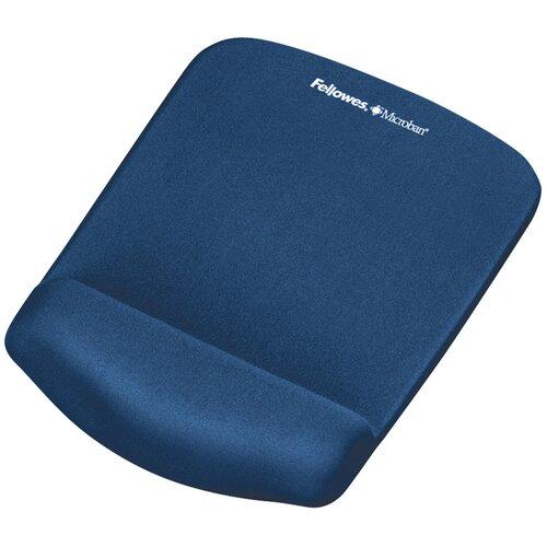 Коврик Fellowes Plush Touch Mousepad Whrist support FS-92520/FS-92873 синий
