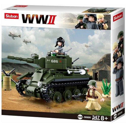 Конструктор SLUBAN WW2 M38-B0686 Танк конструктор sluban ww2 m38 b0682 газ 67